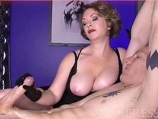 Big Tits Bondage Family Handjob  Mistress