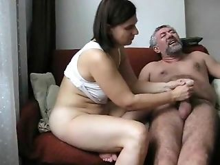 Amateur Chubby Handjob Older Wife