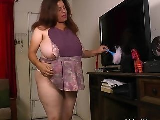 Amazing  Brazilian Latina Maid Mature Uniform