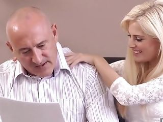 Amazing Blonde Daddy Daughter Old and Young Teen