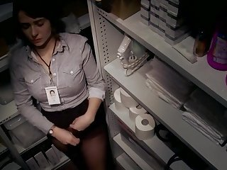 Voyeur Secretary Masturbating Office Teen